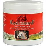 Asam Kräuterhof Gel de massage et soin chauffant aux extraits de feuilles de vigne rouges, marronnier, camomille, houblon, valériane, achillée millefeuille, gui et fenouil 500 ml