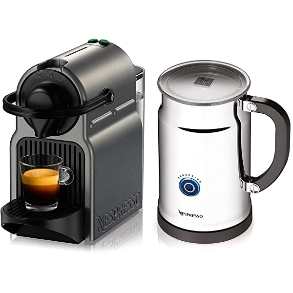 Nespresso A+C40-US-TI-NE Inissia Espresso Maker with Aeroccino Plus Milk Frother