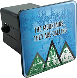 Graphics and More The Mountains They are Calling Hiking Nature Tow Trailer Hitch Cover Plug Insert 2""