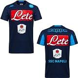 Kappa 302Hqn0 T-Shirt Napoli Uomo, Colore: Blu, Taglia: XL