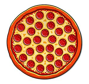 BigMouth Inc Gigantic Pizza Beach Blanket, for Lounging at the Pool, Beach, Machine Washable