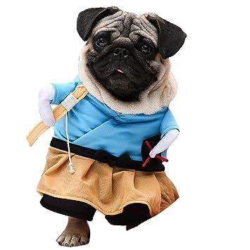laamei Disfraz de Mascota de Navidad, Halloween Costume Ropa de Vestir Sudadera Abrigo Vestido de Urashima Taro para Mascotas Pequeño Cachorro Perro ...