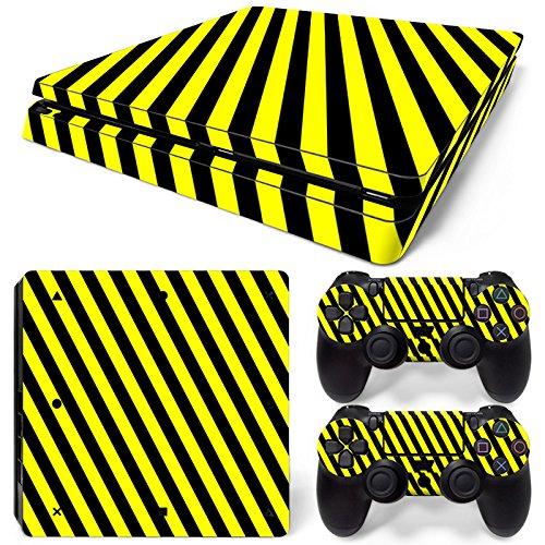 53 opinioni per Set di adesivi decorativi per PlayStation 4 Slim (Console + 2 Joypad)- Pericolo