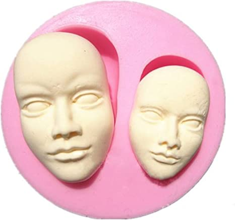 face silicone mould fondant mold face mould chocolate mold Face mold gum paste mold Face silicone mold