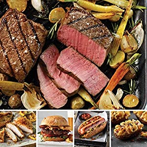 Omaha Steaks Family Value Pack (20-Piece with Top Sirloins, Oven-Roasted Chicken Breasts, Steak Burgers, Jumbo Franks, and Stuffed Baked Potatoes)