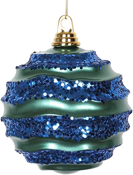 Vickerman Wave Ball Ornament Home Kitchen