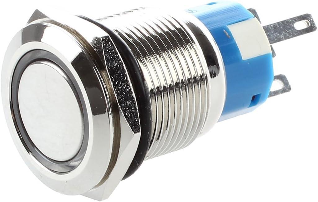 Toogoo R 5a 12v Drucktaster Taster Druckschalter 19mm Vernickeltes Messing Klingeltaster Baumarkt