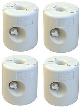 Redwood BB-GA292 - Pesas para patas de kiosko de plástico, 4 piezas: Amazon.es: Jardín