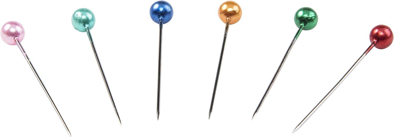 Gr/ö/ße 20 gerade Singer 07050 Pins 150 St/ück Mehrfarbig Perlglanz