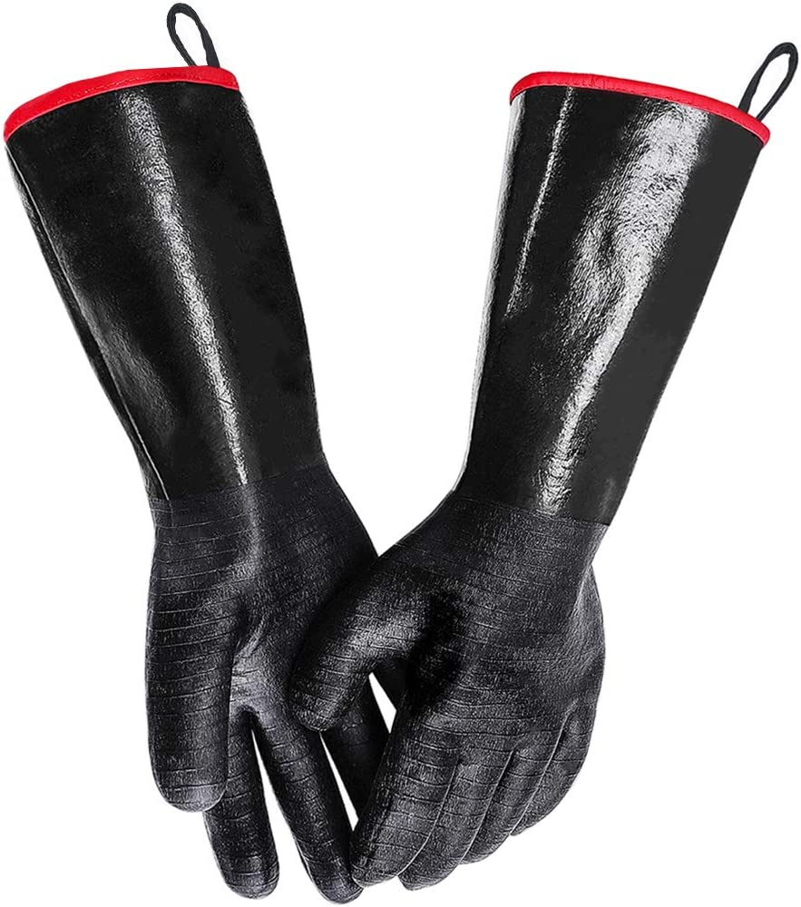 MAFORES BBQ Grill Gloves 932? Heat Resistant Grilling Waterproof Gloves for Turkey Fryer, Baking with Non-Slip Textured Grip