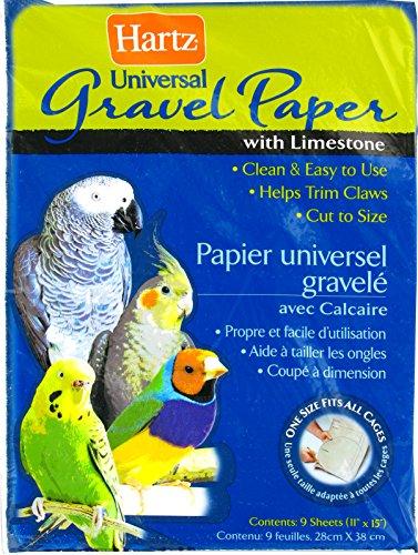 Hartz Universal Limestone Gravel Bird Cage Liner Paper - 9 Pack