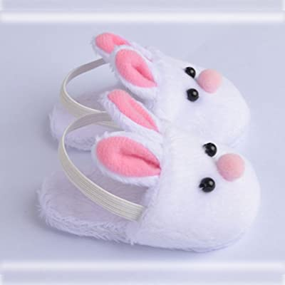 ebuddy White Rabbit Doll Slipper Shoes Clothes Fits 18 Inch Doll Handmade: Toys & Games