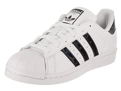 Adidas Superstar J Sneaker (Big Kid),White/Black,4.5
