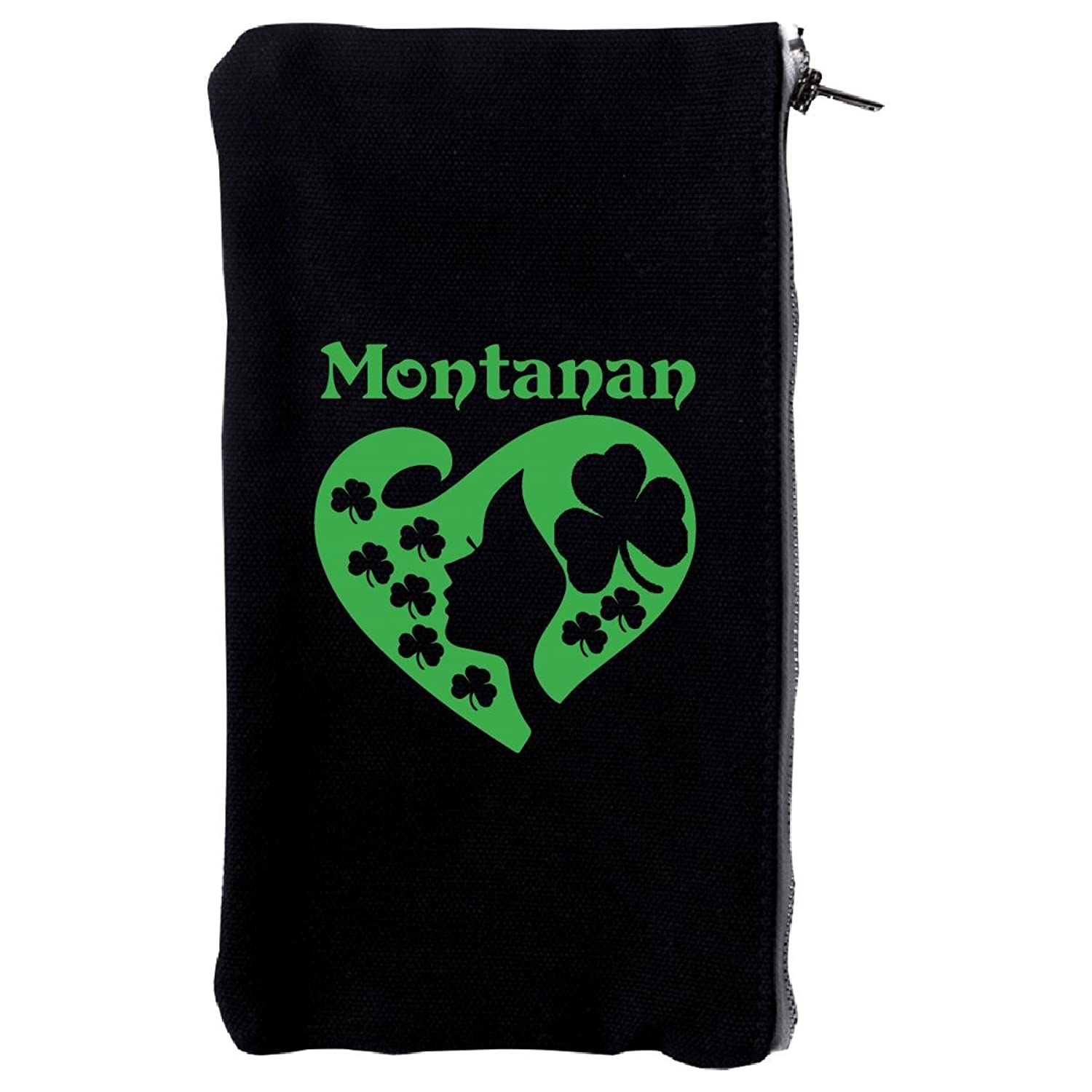 Montanan St Patrick Day Girl Heart Irish Green - Make Up Case