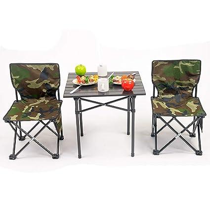 Amazon.com: Juego de mesa plegable para sillas de jardín ...