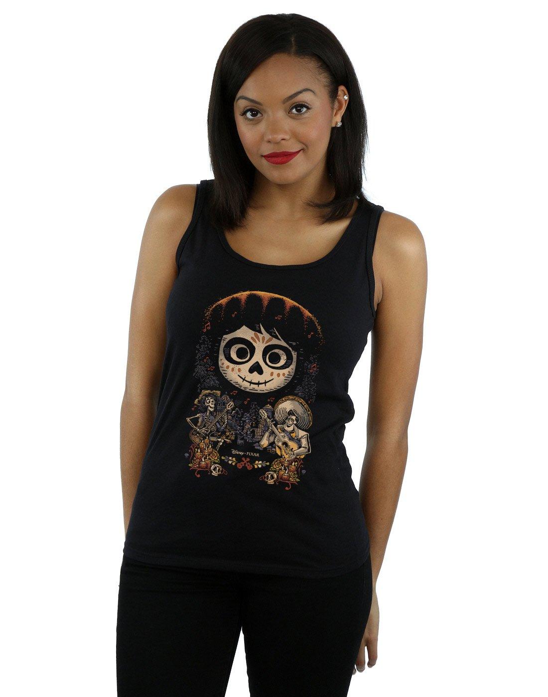 Disney Women's Coco Miguel Face Poster Tank Top Medium Black