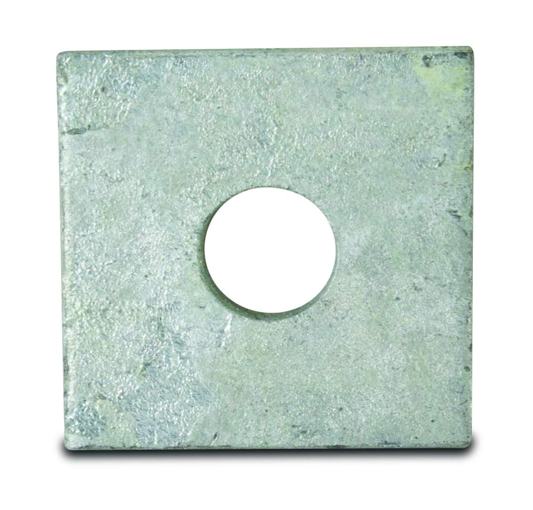 Powerline Hardware P1079 3x3 Square Flat Washer 7//8 Bolt Diameter
