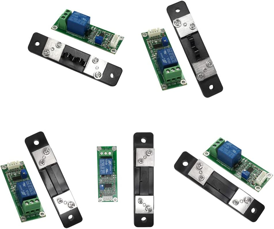 Relay Output Over-Current Short Circuit Protection Black 20A 12V DC 20//30//50A Current Shunt Sensor Green Green+Black DC Current Detection Sensor Module