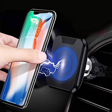 MOWASS Nano Car Phone Mount Wireless Charger Use on Table and Car,Air Vent Phone Holder for iPhone,Huawei,Google,Samsung