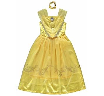 New George Disney Beauty The Beast Belle Light Up Fancy Dress Outfit Costume 2