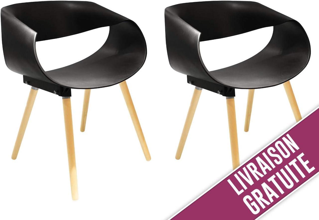 The concept factory Lot de 2 chaises Design de Belle qualité