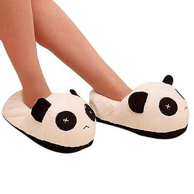 Panda Les chaussures chauds - TOOGOO(R) Les Hommes Panda En Peluche Hiver  Antiderapantes 17c3ad9bffc4