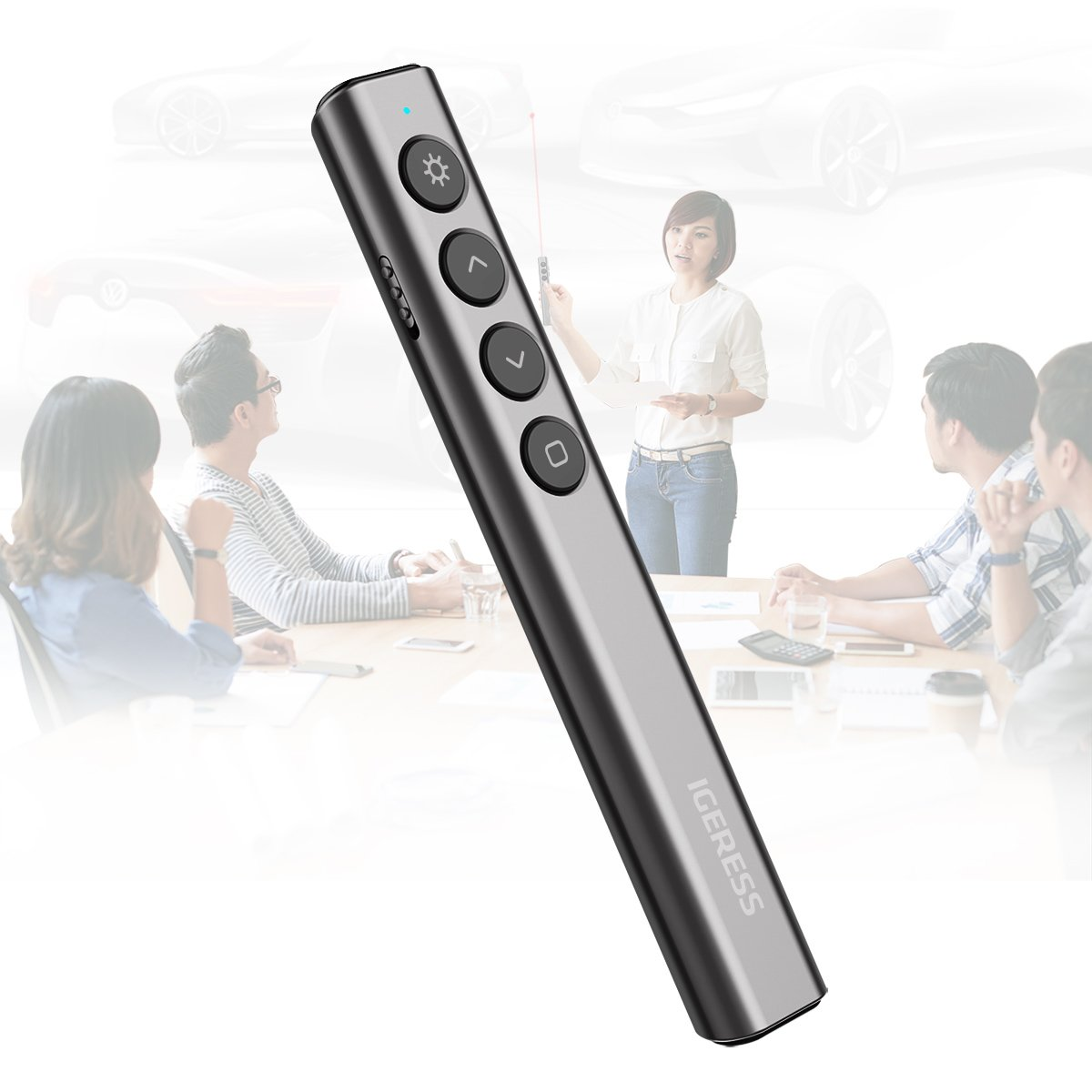 IGERESS Wireless Presenter Remotes PowerPoint Presentation Remote Control with Laser Pointer PPT Clicker by IGERESS (Image #5)