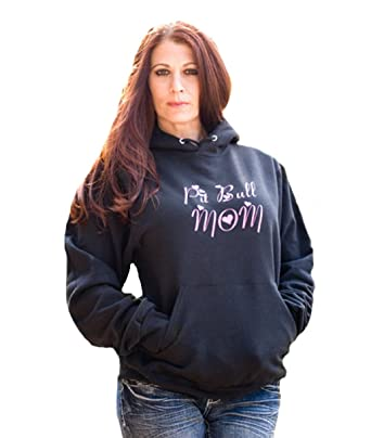 3b879475 Pit Bull Mom Womens Hoodie Pitbull Gift, Pitbull Accessories, Pitbull Lover  Gift at Amazon Women's Clothing store: