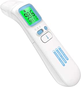 Non-Contact Forehead Thermometer, Infrared Thermometer for Baby Kids and Adults Instant Reading Thermometer Fever Alarm Thermometer