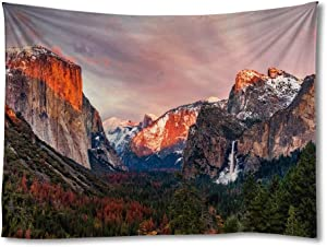 FHYGJD Yosemite in Winter Art Print Tapestries,Home Wall Decor Tapestry (30x45 inch)