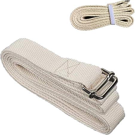 LB Correa De Yoga para Estirar Algodón Pilates Cinturón Fitness Band Hebilla De Metal Ejercicio Accesorios 1.83 / 3m,1.83m: Amazon.es: Hogar