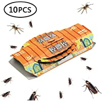 Cockroach Traps Sticky Indoor Killer,10 Pack Pest Control Capture Non Toxic Greener Mindest Cockroach Catcher Roach Motel with Bait Included, Eco Friendly Insect Repellent for Spiders Ants Roach.