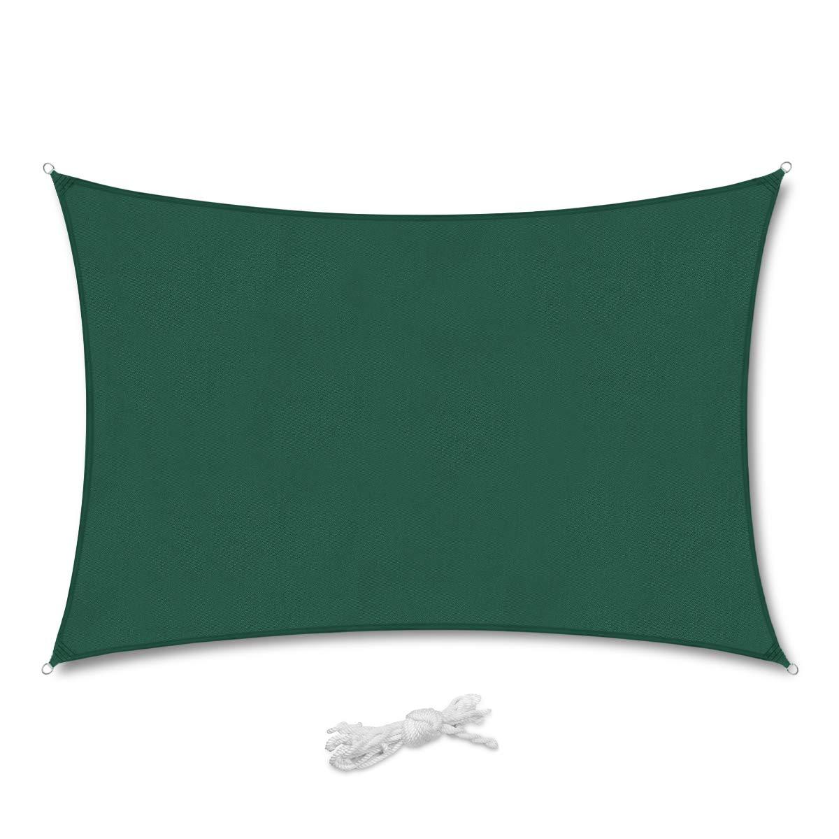 Sekey Vela Parasole Rettangolare Traspirante Permeabile HDPE Protezione Antivento con Protezione UV 90/% per Giardino Terrazza Campeggio Patio Party 3/×4m Sabbia con Corda Libera e Kit di Fissaggio