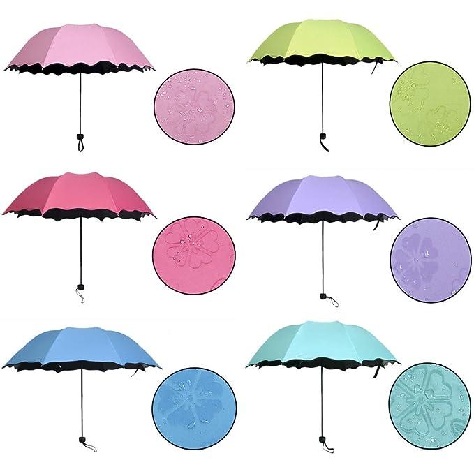 bdcc722a9a53 Amazon.com: AODEW Umbrellas Three Folding Sunny Rain Anti-uv ...
