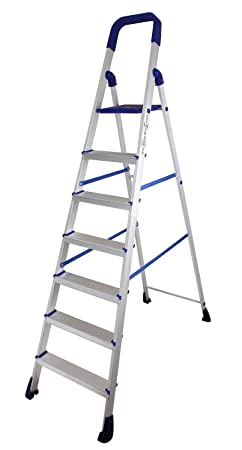 Parasnath Home Pro 7 Step�7.1 Ft�Light Weight Aluminium Heavy Duty Folding Ladder(Made in India)