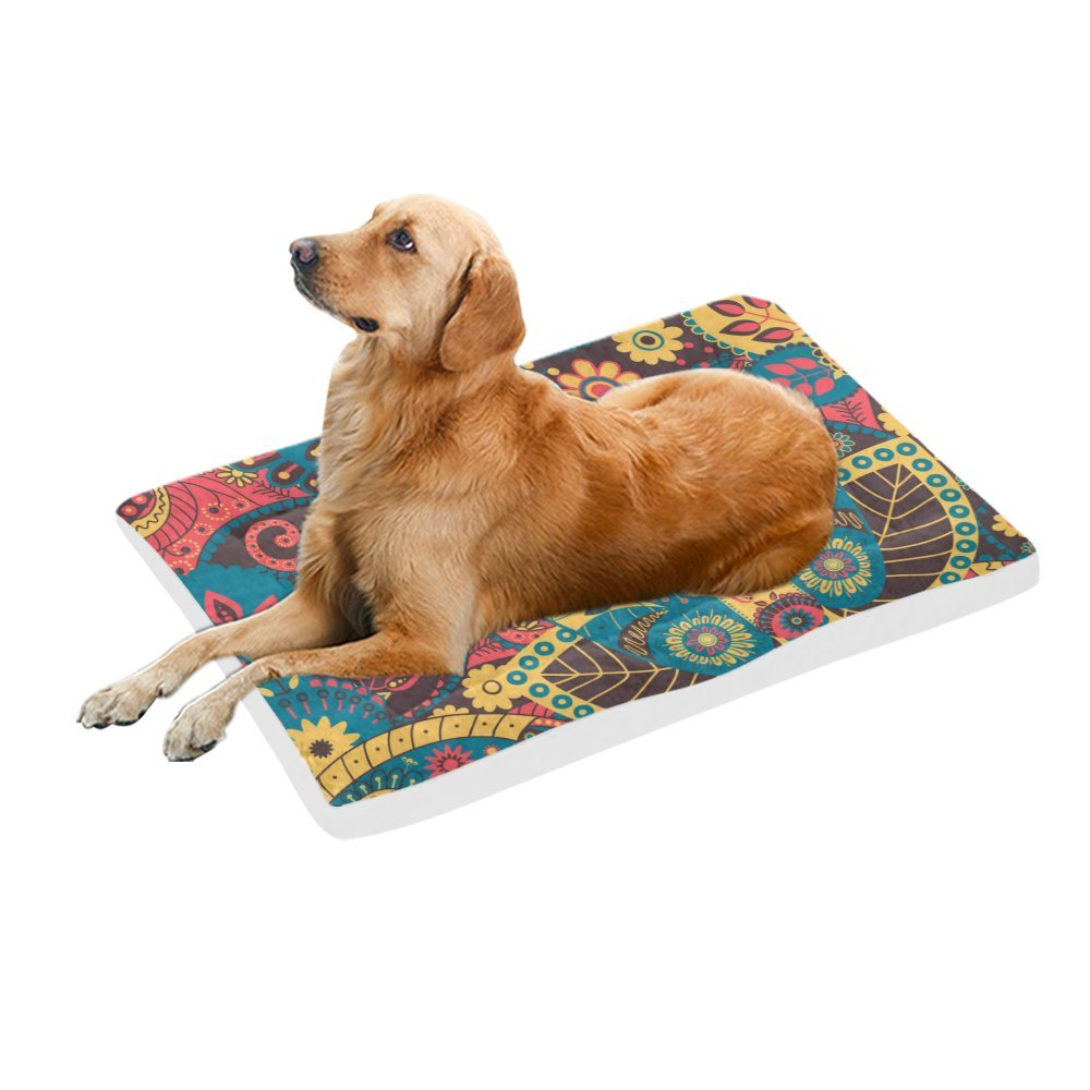 42\ your-fantasia Retro Floral Flower Pet Bed Dog Bed Pet Pad 42 x 26 inches