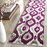 Safavieh Porcello Collection PRL7736B Ivory and Purple Runner (2'4