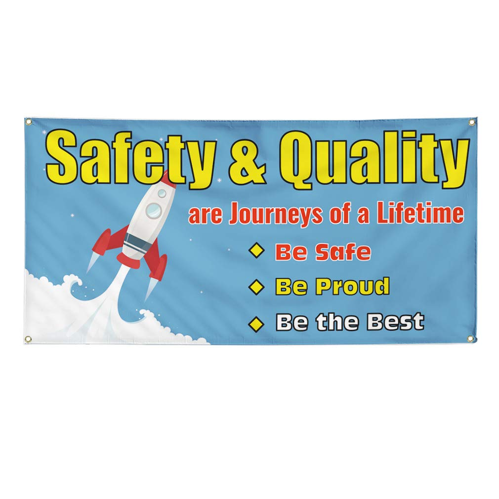 Journeys of A Lifetime Marketing Advertising Blue Multiple Sizes Available One Banner 8 Grommets 48inx96in Vinyl Banner Sign Safety /& Quality