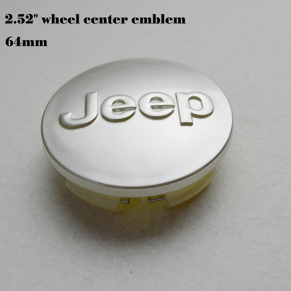 "Hanway 4 pcs 2.52/""emblem black logo jeep emblem 64mm Wheel Center Caps Hubcaps For Jeep Grand Cherokee Liberty Jeep Wrangler Rubicon"
