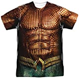 Aquaman Movie Aquaman Uniform Unisex Adult Sublimated T Shirt for Men and Women, Large White