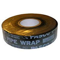 LASCO 02-4118 1-Inch Wide by 100-Feet Long  10ml Thick Gas Pipe Wrap Tape, Black