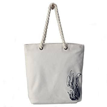 36fb3d156b1c9 Yiuswoy Damen Mode Schöne Schultertasche Weiß Baumwolltasche