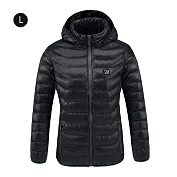 Chaqueta de trabajo térmica calefactable,Rock eléctrico calefacción chaqueta de ropa con de Batería recargable Banco de alimentación recargable, ...