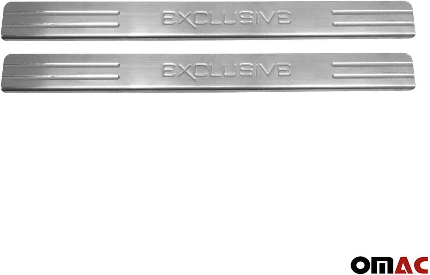 Chrom Einstiegsleisten f/ür Zafira B 2005-2015 T/ürschutzleisten 2 tlg aus Edelstahl V2A