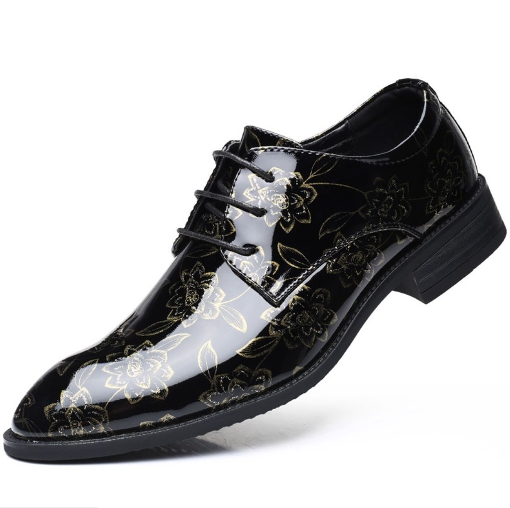 SHANGWU Zapatos de Hombre de Gran Tamaño para Hombres Zapatos Ocasionales de Flores Zapatos XIAOQI (Color : 3, Tamaño : 41) 41 3