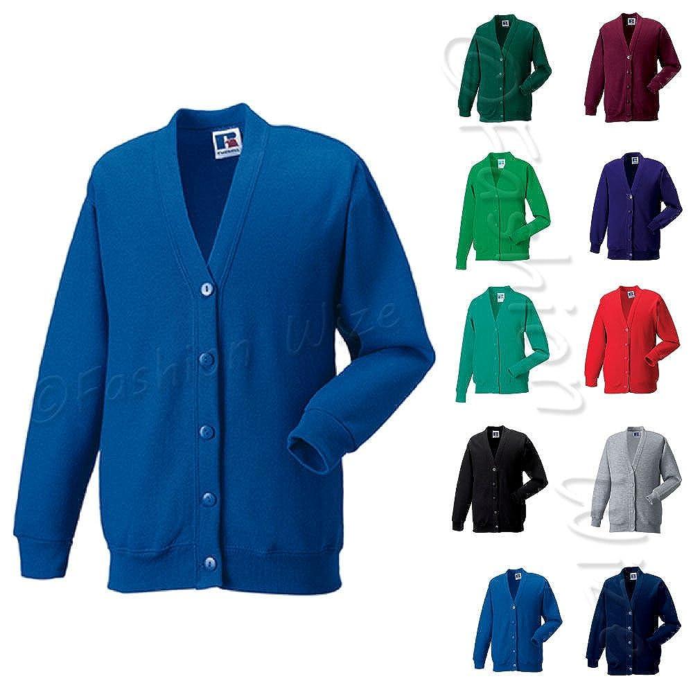Adult Sizes Miss Chief Girls School Cardigan Fleece Sweatshirt Uniform Schoolwear Age 2 3 4 5 6 7 8 9 10 11 12 13 14