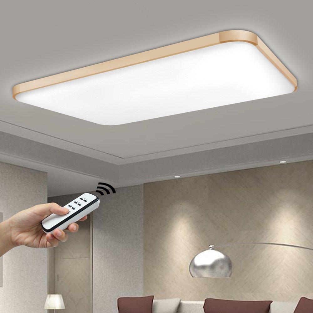 NatsenR 90W LED Deckenlampe Wohnzimmer Wandlampe Modern Deckenleuchte Gold Warmweiss Kaltweiss Neutralweiss Mit Fernbedienung Dimmbar 925mm650mm I501J
