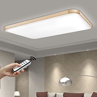 NatsenR 90W LED Deckenlampe Wohnzimmer Wandlampe Modern Deckenleuchte Gold Warmweiss Kaltweiss Neutralweiss Mit Fernbedienung Dimmbar