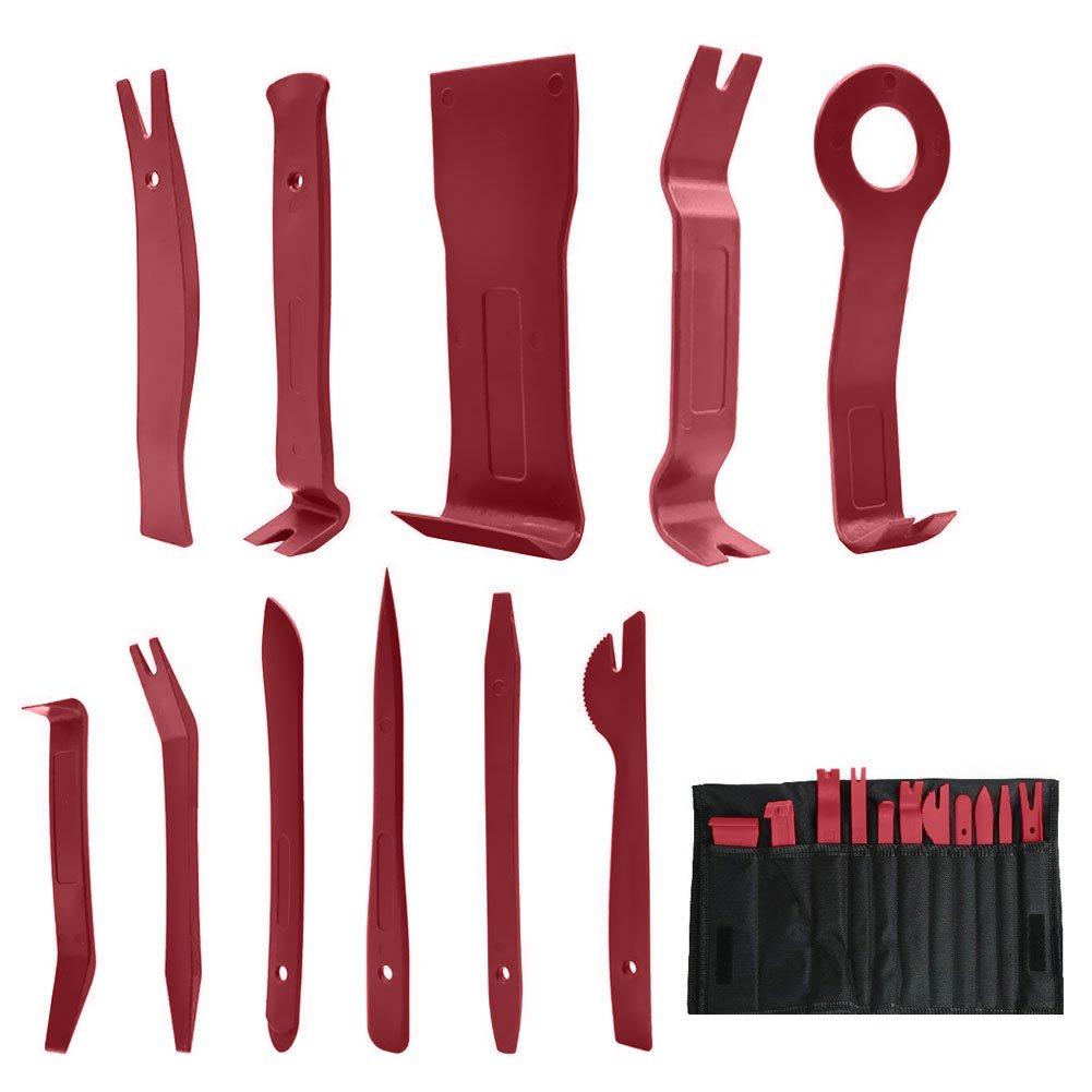 Outil Démontage,Infreecs Garniture Installation Kit Outils anti Rayure Car Removal Tool pour panneau/autoradio/accessoires/porte/tableau de bord de voiture (11 pièces)