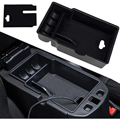 Center Console Armrest Box Glove Box Secondary Storage Insert Organizer Tray Compatible with Jeep Renegade 2015 2016 2020 2020 2020: Automotive